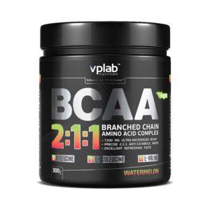 "Аминокислоты Vplab Nutrition BCAA 2:1:1 300 г, вкус ""арбуз"""